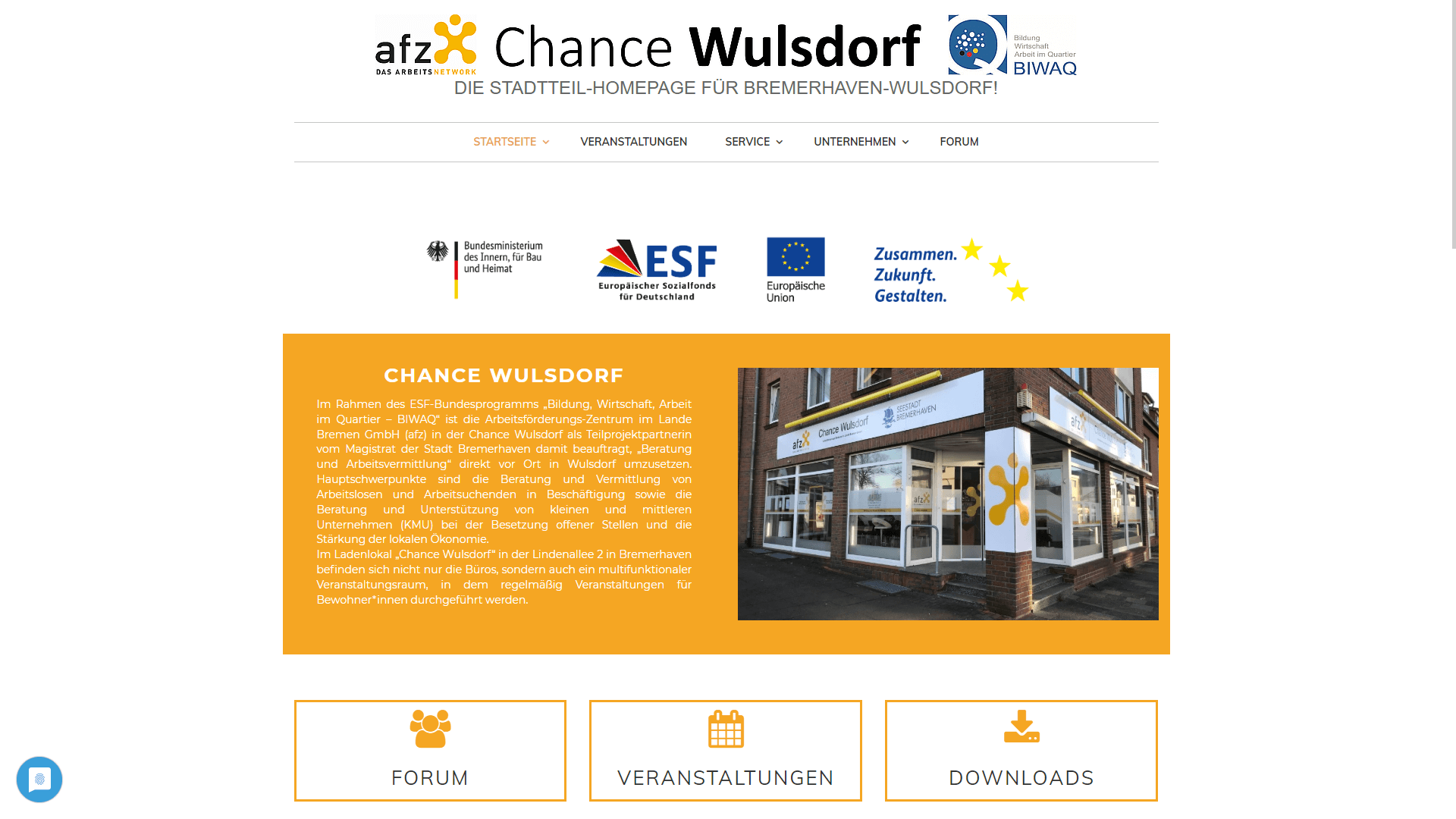 Unternehmen - Chance Wulsdorf