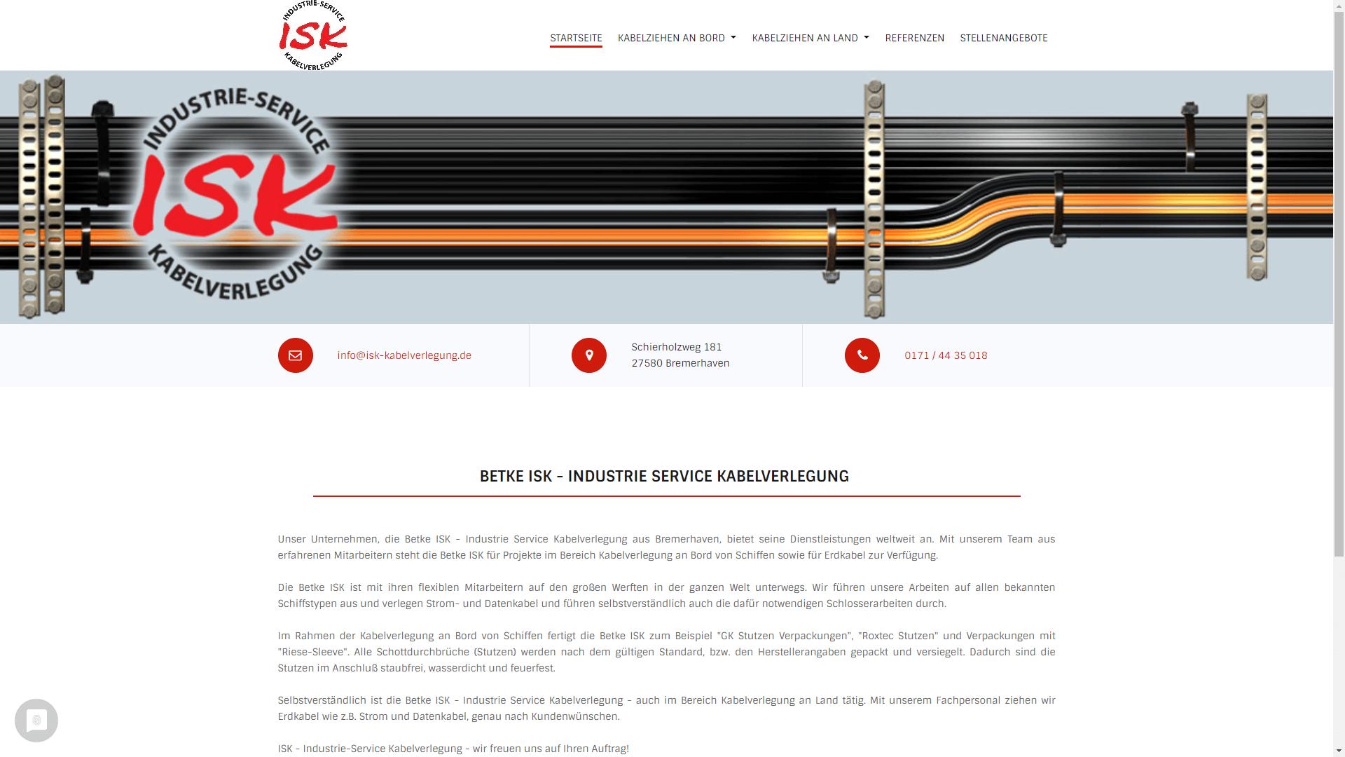 Unternehmen - ISK Kabelverlegung
