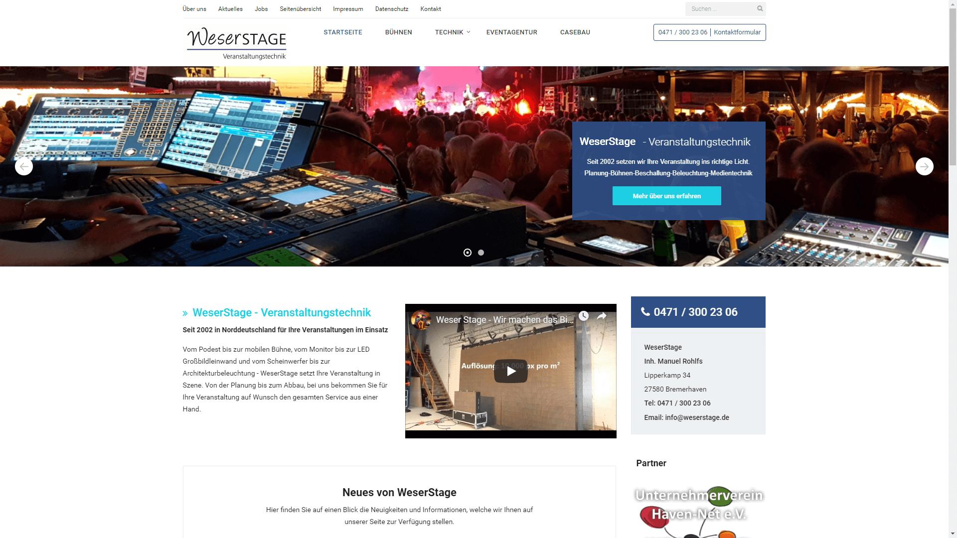 Unternehmen - WeserStage - Veranstaltungstechnik