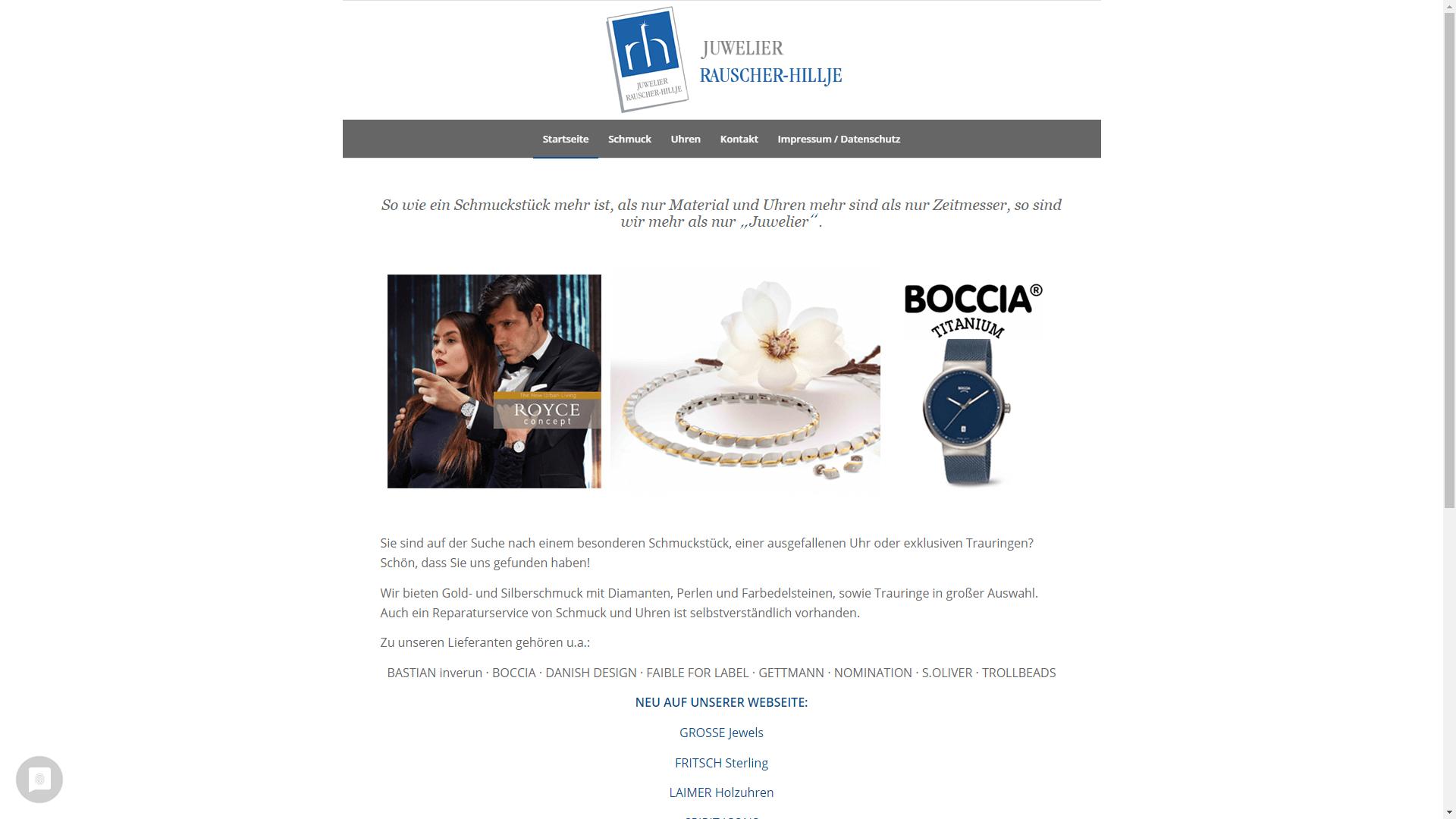 Unternehmen - Juwelier Rauscher-Hillje