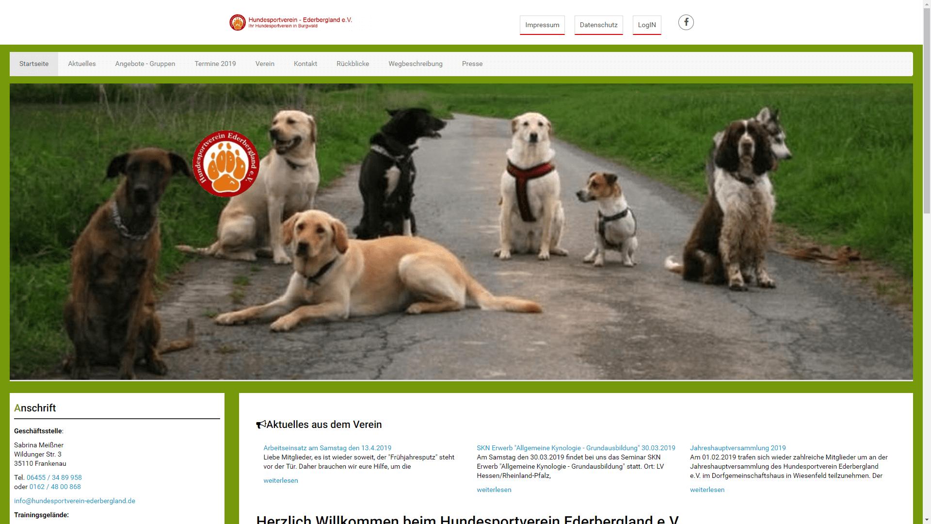 Verein - Hundesportverein Ederbergland e.V.